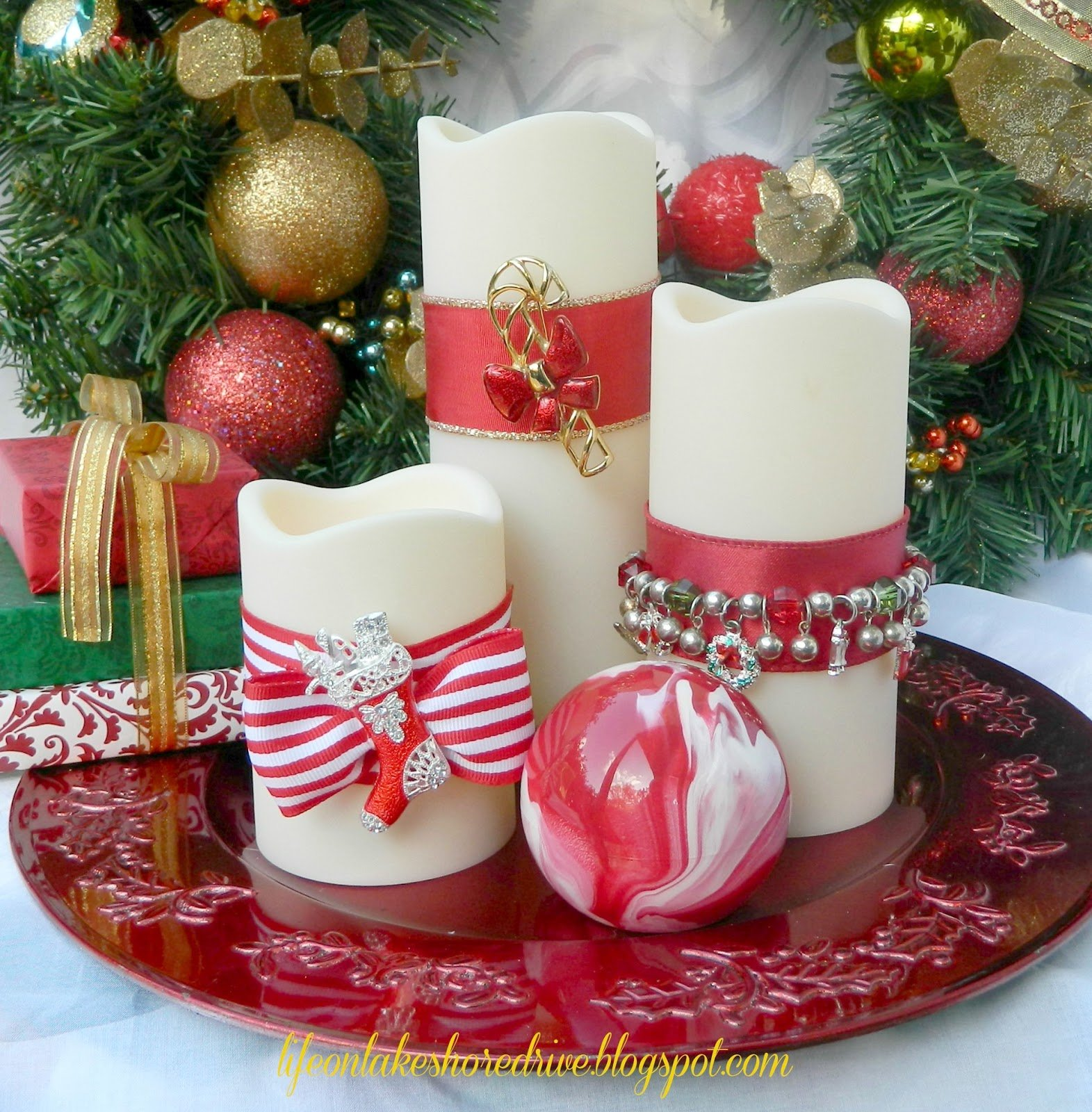 Best Christmas Decoration Malaysia 2013: 10+1 ötlet ünnepi Gyertyákra