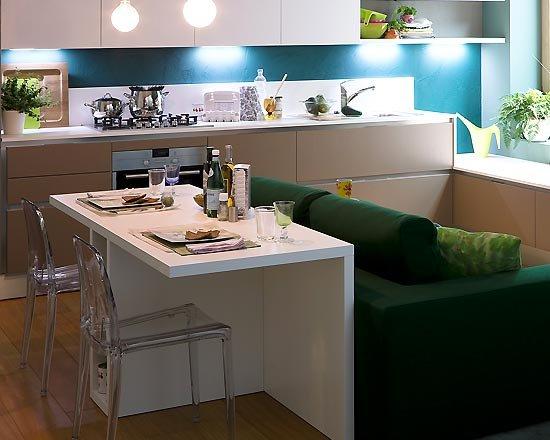 Konyha a nappaliban nappali a konyh ban dettydesign lakberendez s for Very small apartment kitchen design