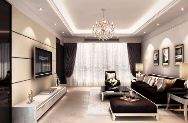 Interior-decoration-living-room-rendering-with-TV-wall-sofa-and-Crystal-Light