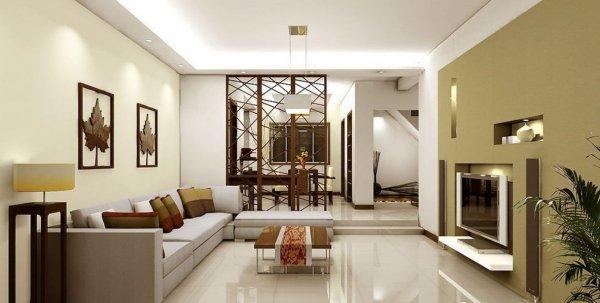 Light-green-TV-wall-for-living-room