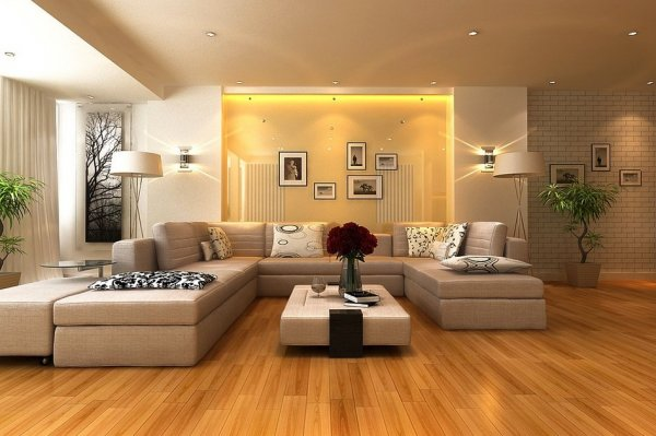 Neutral-living-room-gloss-feature-wall